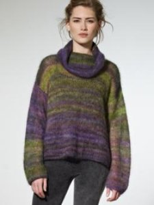 Rowan Kidsilk Haze Stripe Freya Sweater Kit - Women's Pullovers