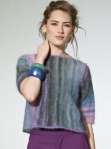 Rowan Kidsilk Haze Stripe Leya Pullover Kit - Women's Pullovers