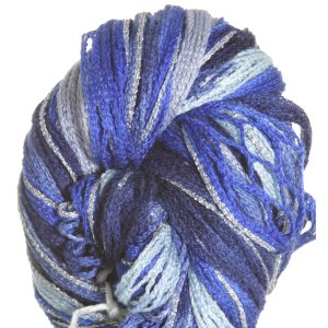 Filatura Di Crosa Moda Lame Long Print Yarn - 203 Denim/Silver