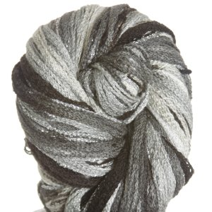 Filatura Di Crosa Moda Lame Long Print Yarn - 202 Charcoal/Silver