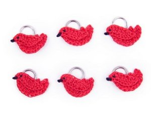 Lantern Moon Stitch Markers - Cardinal (Discontinued)