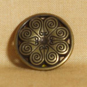 Noble Button Metal Buttons and Clasps - 1110 Medium Antique Copper S