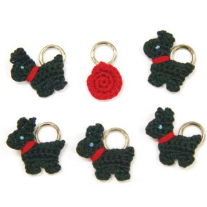 Lantern Moon Stitch Markers - Scotty Dog
