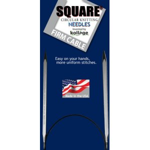 "Kollage Square Circular Needles (Firm Cable) Needles - US 10.5 (6.5 mm) - 16"" Needles"