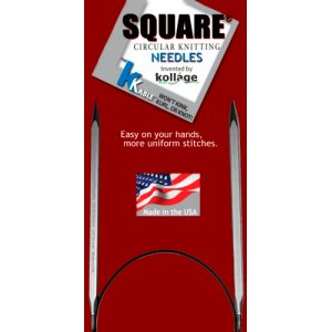 "Kollage Square Circular Needles (k-cable) Needles - US 9 (5.5 mm) - 16"" Needles"