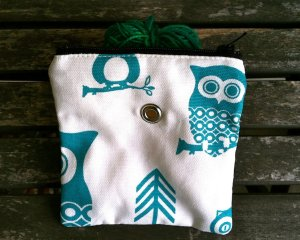 Top Shelf Totes Yarn Pop - Mini - Turquoise Owl
