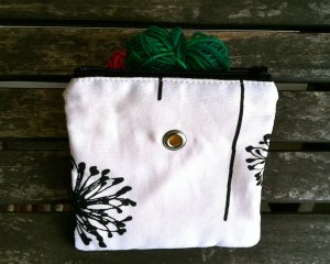 Top Shelf Totes Yarn Pop - Mini - Black and White Dandelion