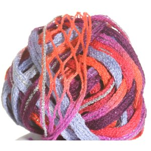 Filatura Di Crosa Moda Lame Yarn - 11 Coral Reef/Silver (Discontinued)