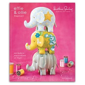 Heather Bailey Sewing Patterns - Effie and Ollie Elephant Pattern