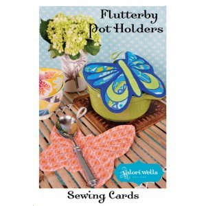 Valori Wells Designs Sewing Patterns - Flutterby Potholder Pattern