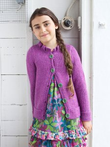 Berroco Vintage Chunky Blake Cardigan for Girls Kit - Baby and Kids Cardigans