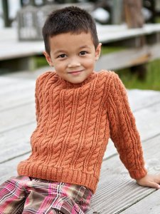 Berroco Vintage DK Westcott Pullover for Kids Kit - Baby and Kids Pullovers