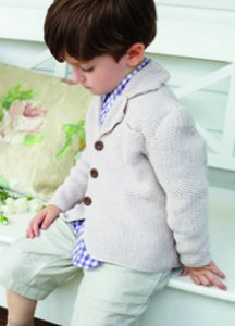 Debbie Bliss Eco Baby Moss Stitch Blazer Kit - Baby and Kids Cardigans