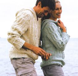RYC Natural Silk Aran Driftwood Men's Kit - Mens Sweaters