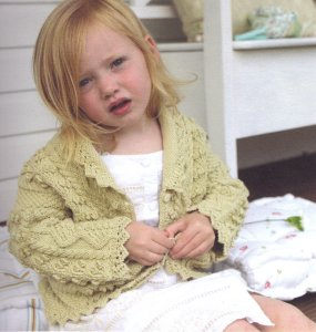 Debbie Bliss Eco Baby Lace Edged Cardigan Kit - Baby and Kids Cardigans