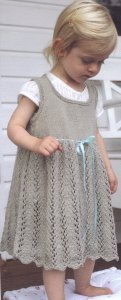 Debbie Bliss Eco Baby Ribbon Tie Dress Kit - Dresses and Skirts