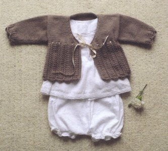Debbie Bliss Baby Cashmerino Matinee Coat 2 Kit - Baby and Kids Cardigans
