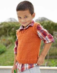Berroco Vintage Chunky Denny Kids Vest Kit - Baby and Kids Vests