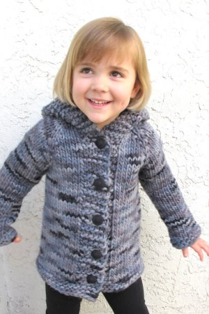 Knitting Pure and Simple Baby & Children Patterns - 0126 - Children's Bulky Top Down Coat Pattern