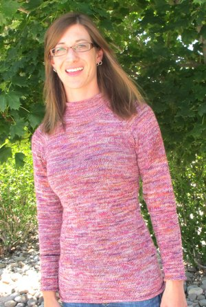 Knitting Pure and Simple Women's Sweater Patterns - 0129 - Top Down Lightweight Pullover Pattern