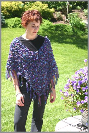 Knitting at Knoon Patterns - Condo Poncho Ole (Discontinued) Pattern