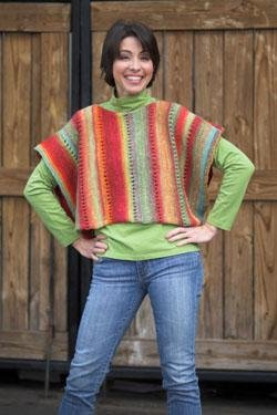 Plymouth Yarn Adult Vest Patterns - 2434 Gina Side to Side Vest Pattern