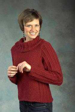 Plymouth Sweater & Pullover Patterns - 2442 Baby Alpaca Aire Cowl Neck Pullover Pattern