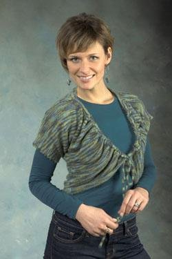 Plymouth Shrug Patterns - 2426 Sakkie Woman's Rouched Shrug Pattern