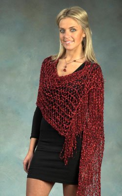 Plymouth Eros II Shawl (Stitch Red) Kit - Scarf and Shawls