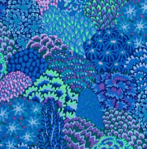 Kaffe Fassett Oriental Trees Fabric - Blue
