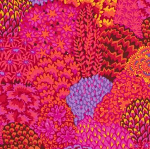 Kaffe Fassett Oriental Trees Fabric - Red