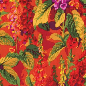 Philip Jacobs Fox Gloves Fabric - Hot