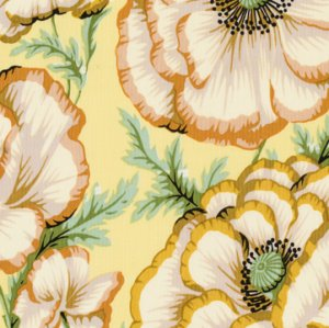 Philip Jacobs Banded Poppy Fabric - Butter