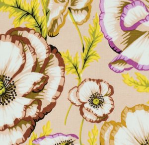 Philip Jacobs Banded Poppy Fabric - Taupe