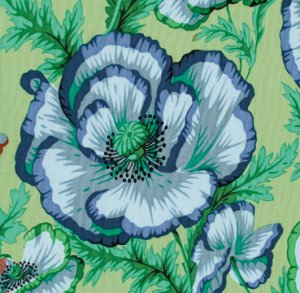 Philip Jacobs Banded Poppy Fabric - Sage