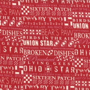 Sweetwater Mama Said Sew Fabric - The Block - Apple Red (5491 11)