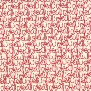 Sweetwater Mama Said Sew Fabric - Tangled Threads - Cream/Apple Red (5492 11)