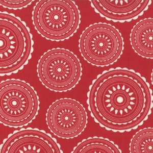 Sweetwater Mama Said Sew Fabric - Hoops - Apple Red (5493 31)