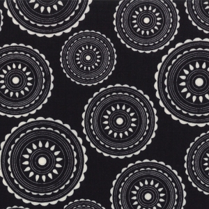 Sweetwater Mama Said Sew Fabric - Hoops - Black (5493 33)