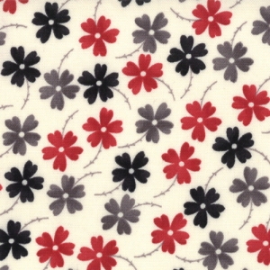 Sweetwater Mama Said Sew Fabric - Lazy Daisy - Cream/Multi (5494 12)