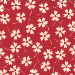 Sweetwater Mama Said Sew Fabric - Lazy Daisy - Apple Red (5494 21)