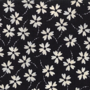 Sweetwater Mama Said Sew Fabric - Lazy Daisy - Black (5494 23)