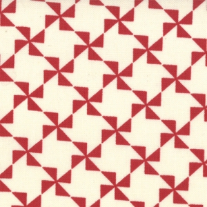 Sweetwater Mama Said Sew Fabric - Pinwheel - Cream/ Apple Red (5496 11)
