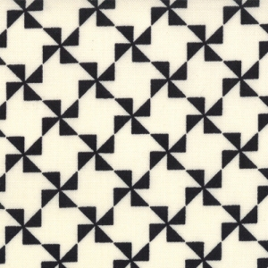 Sweetwater Mama Said Sew Fabric - Pinwheel - Cream/Black (5496 13)