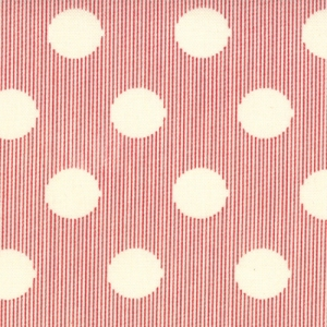 Sweetwater Mama Said Sew Fabric - Snaps - Cream/Apple Red (5497 11)