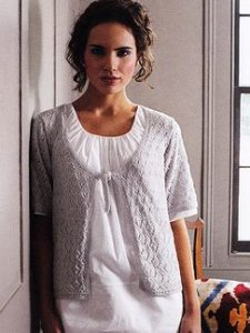 Debbie Bliss Rialto Lace Scoop Neck Top Kit - Women's Cardigans
