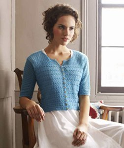 Debbie Bliss Rialto Lace Sideways Knitted Cardigan Kit - Women's Cardigans