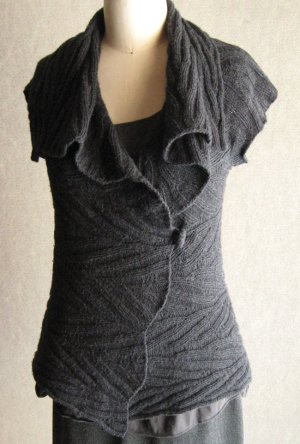 Sunday Knits Patterns - Adam's Ribs Cap-Sleeve Wrap Pattern