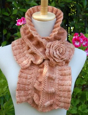 Pam Powers Knits Patterns - Ruffled and Rouched Scarf Pattern