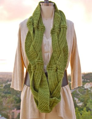 Pam Powers Knits Patterns - Challah Infinity Scarf Pattern
